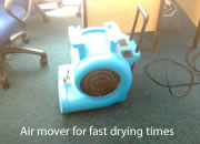 Air mover for fast drying times